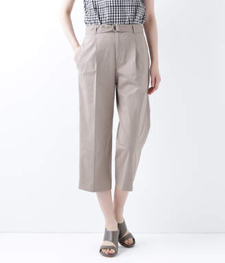 NEWYORKER women's トリコットジャージー ベルト付きクロップドパンツ