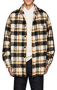 Cmmn Swdn Men's Sergey Plaid Wool-Blend Oversized Shirt Jacket-Black