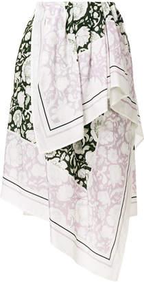 Christian Wijnants asymmetric floral skirt