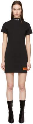 Heron Preston Black Style Mock Neck T-Shirt Dress