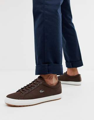 82cfa1fff Mens Brown Lacoste Shoes - ShopStyle UK