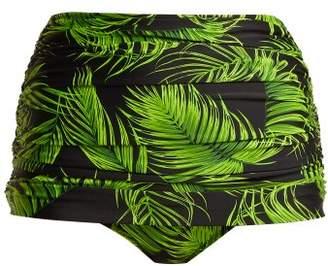 Norma Kamali Bill High Waisted Bikini Briefs - Womens - Green Print