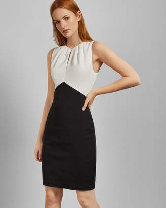 07a4deff2 Ted Baker ZAMELID Fitted sleeveless dress
