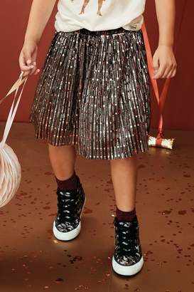 Next Girls Rose Gold Sparkly Skirt (3-16yrs) - Gold