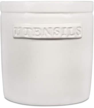 Home Essentials White Utensils Crock