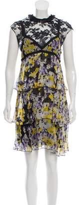 Francesco Scognamiglio Silk Printed Dress