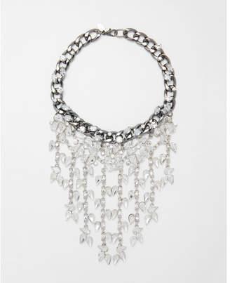 Express teardrop stone fringe necklace