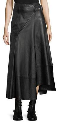 3.1 Phillip Lim Utility Long Leather Skirt