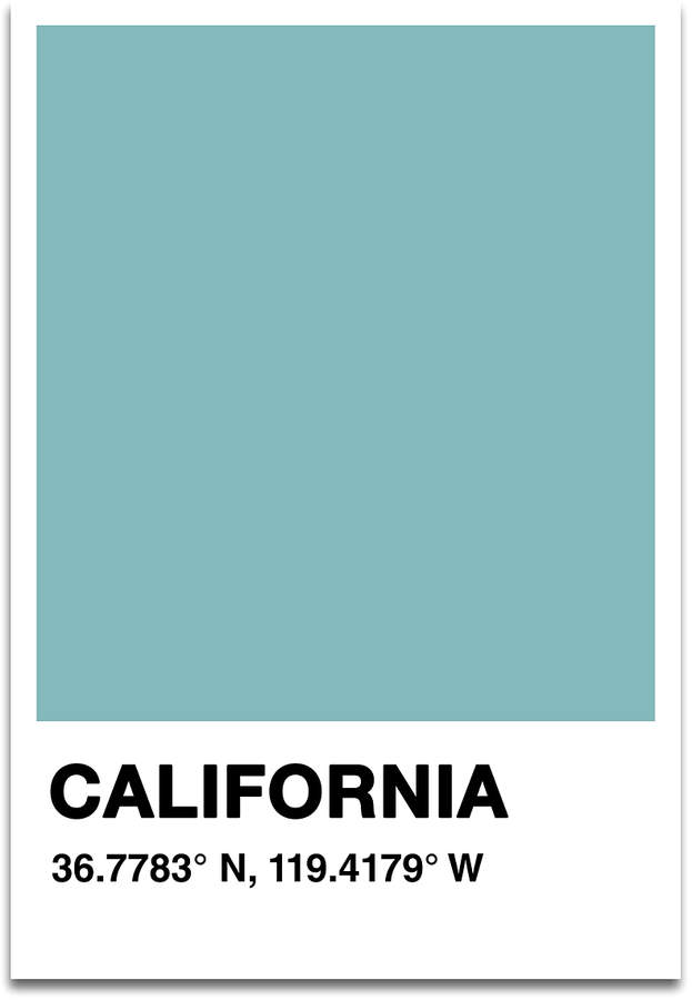 'California' Color Swatch Print