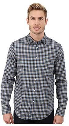 Lacoste Men's Long Sleeve Poplin Check Woven Shirt