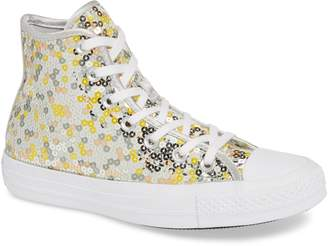 Converse Chuck Taylor(R) All Star(R) Sequin High Top Sneaker