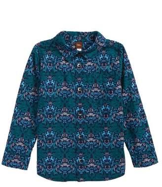 Tea Collection Linton Print Woven Shirt (Toddler Boys & Little Boys)