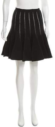 Alaia Open Knit Flared Skirt