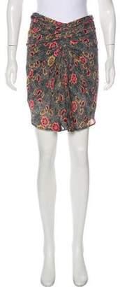 Isabel Marant Ãtoile Printed Mini Skirt Grey Ãtoile Printed Mini Skirt