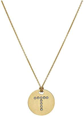 Roberto Coin Tiny Treasures 18K Yellow Gold Initial T Pendant Necklace Necklace