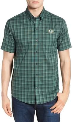 Cutter & Buck Green Bay Packers - Fremont Regular Fit Check Sport Shirt