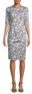 Carolina Herrera Daisy Sheath Dress