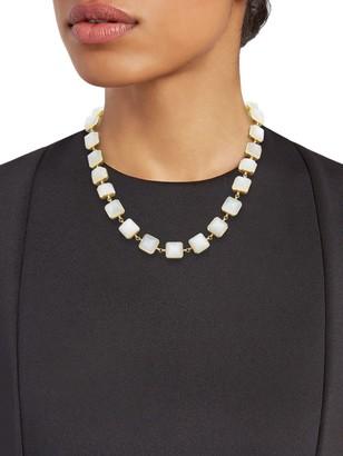 Artisan 18K Yellow Gold Moonstone Collar Necklace