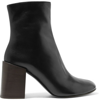 Saul Leather Ankle Boots - Black