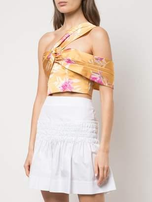 AMUR floral print asymmetric top