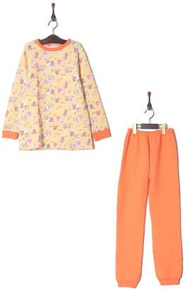 Kid's Pajama & More オレンジ キルトパジャマ