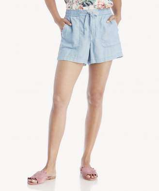 Sole Society 2Pkt Tie Waist Tencel Shorts