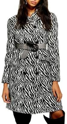 Topshop Zebra Print Coat