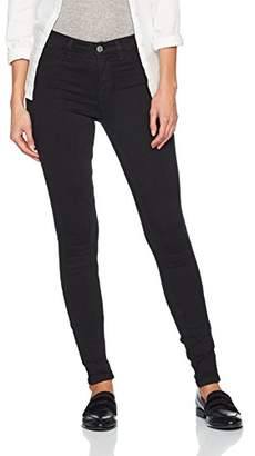 Selected Women's Sfgaia Hr Jegging New Black Wash Noos Trouser