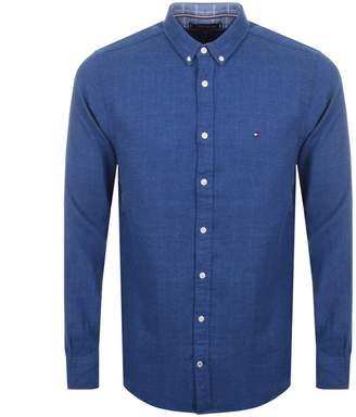 Tommy Hilfiger Long Sleeved Flannel Shirt Blue