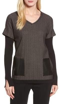 Ming Wang Layered Look Sweater