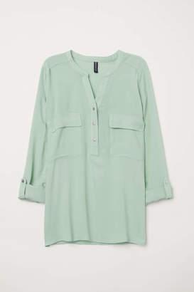 H&M V-neck Blouse - Light blue - Women