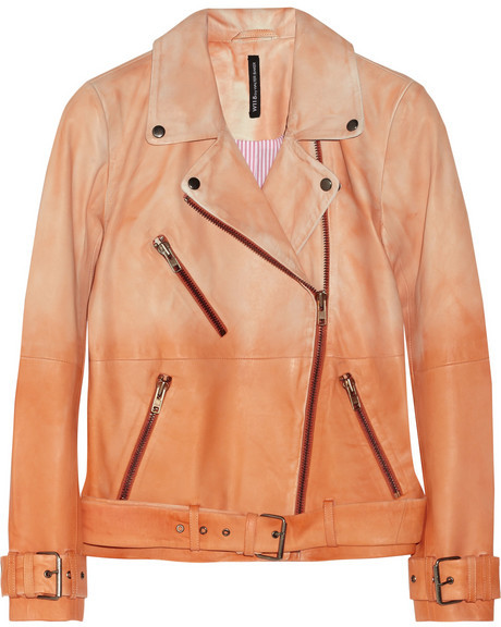 Walter W118 by Baker Evan dégradé leather biker jacket
