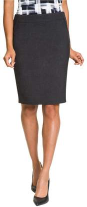 Le Château Women's Sleek Knee Length Pencil Skirt