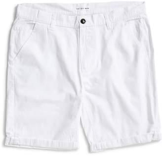 The Idle Man Chino Shorts White