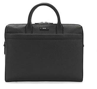 HUGO BOSS Document case in natural grained leather by BOSS
