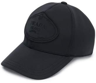 Prada logo patch baseball cap