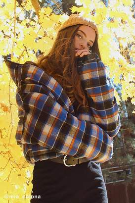 Urban Outfitters Plaid Puffer Jacket