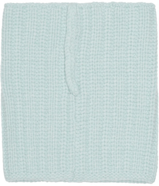 Lanvin Blue Knitted Scarf