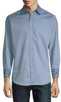 Robert Graham Hess Printed Cotton Button-Down Shirt