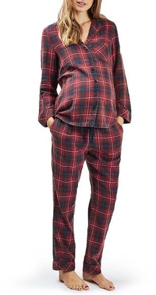 TopshopWomen's Topshop Plaid Maternity Pajamas