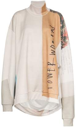 Marques Almeida Marques'almeida printed oversized cotton-blend jumper