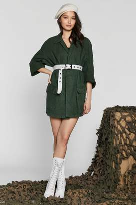 Nasty Gal After Party Vintage Thinkin' 'Boat Utility Jacket
