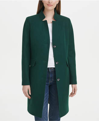 DKNY Stand-Collar Reefer Coat