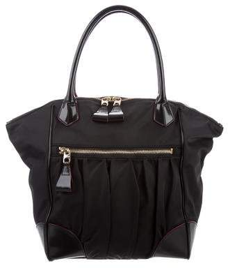 MZ Wallace Leather-Trimmed Nylon Tote