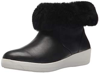 FitFlop Women's Skatebootie Leather Shearling Ankle Boot