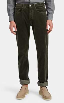 Massimo Alba Men's Cotton Velvet Trousers - Olive
