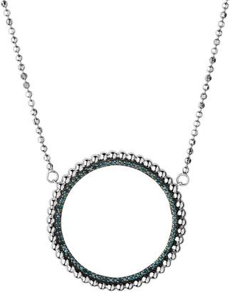 Links of London Silver and Blue Diamond Effervescence Halo Necklace