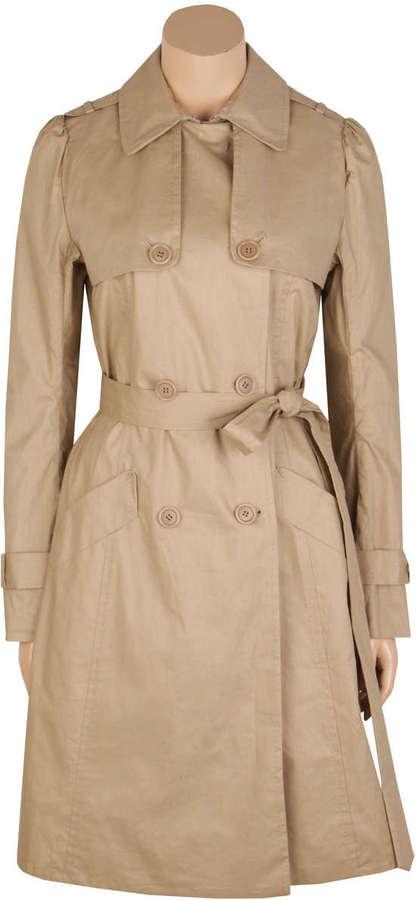 Coated Linen/Cotton Trench Coat
