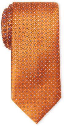 Brioni Gold Silk Link Print Tie