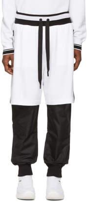 Dolce & Gabbana White and Black Logo Band Lounge Pants